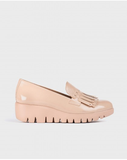 Wonders-Women-Patent leather moccasin with fringe detail