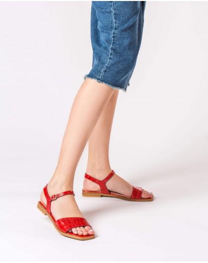 Wonders-Women-mock croc flat sandal