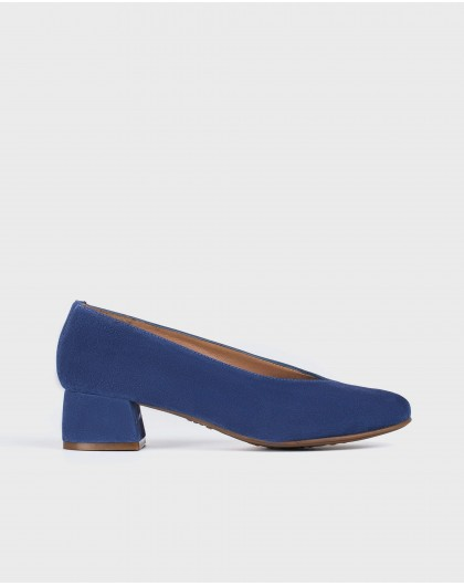 Wonders-Outlet-Court shoe with midi-heeled