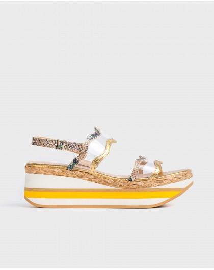 Wonders-Outlet-Sandal with vinyl strap