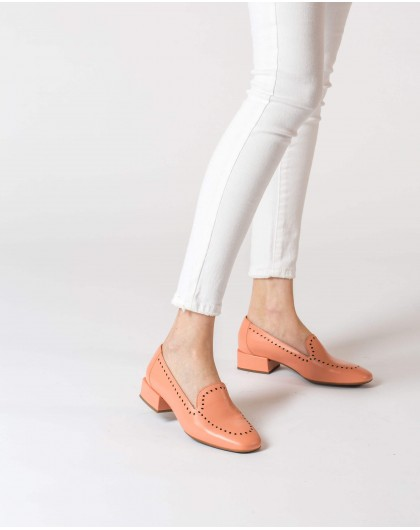 Wonders-Women-Leather moccasin with brogue detail