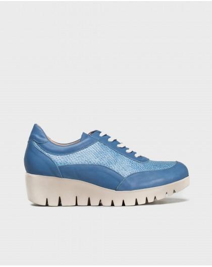 Wonders-Outlet-Leather platform sneaker