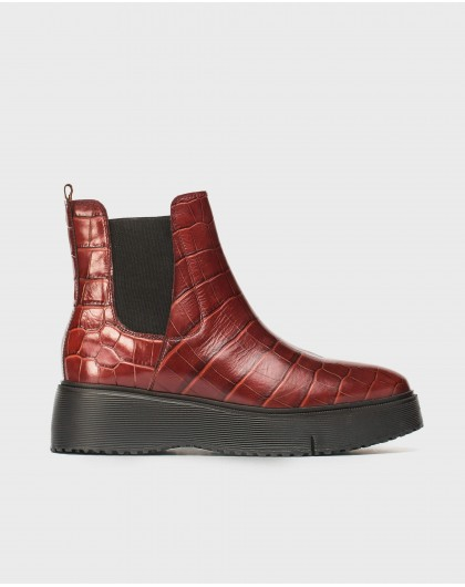 Wonders-Ankle Boots-Ankle boot Abril red