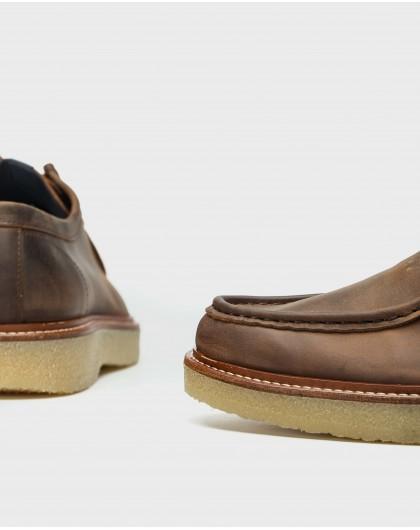 Wonders-Men-Leather Wallabee shoe