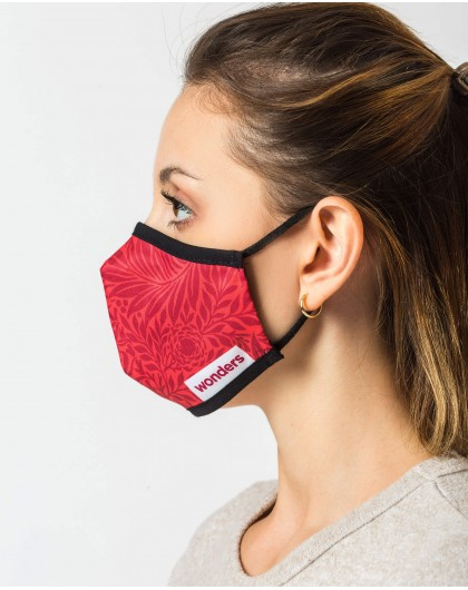 Wonders-Accesories-Red pattern Face Mask