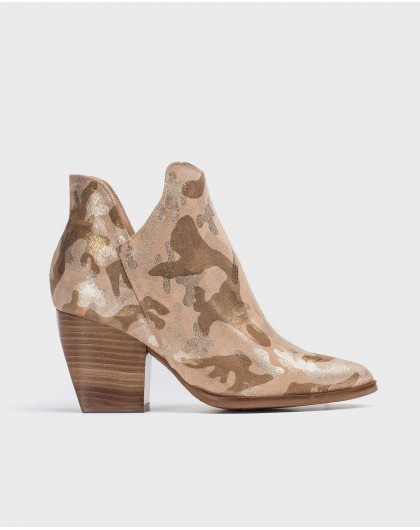 Wonders-Ankle Boots-Leather cut out ankle boot