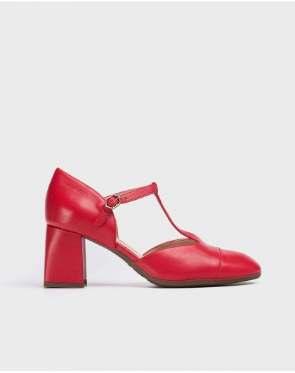 Wonders-Outlet-T-Bar leather shoe
