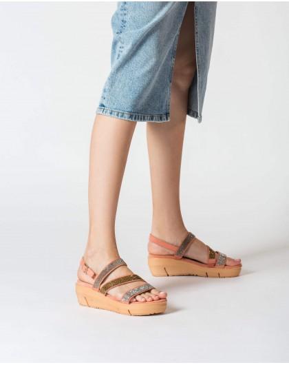 Wonders-Sandals-Wedge Rhinestone sandal