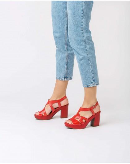 Wonders-Women-Platform sandal with wavy straps