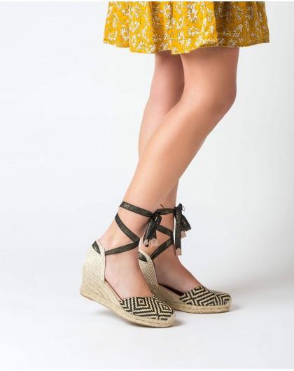Wonders-Women-Jute Rhinestone sandal