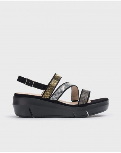 Wonders-Women-Wedge Rhinestone sandal