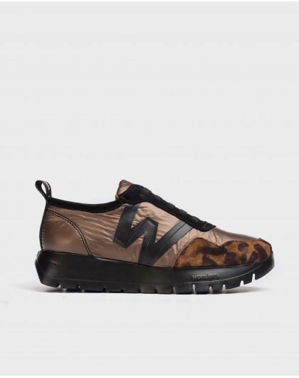 Wonders-Flat Shoes-Luna Animal Print Sneaker