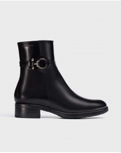 Wonders-Ankle Boots-Black Dot Ankle Boot