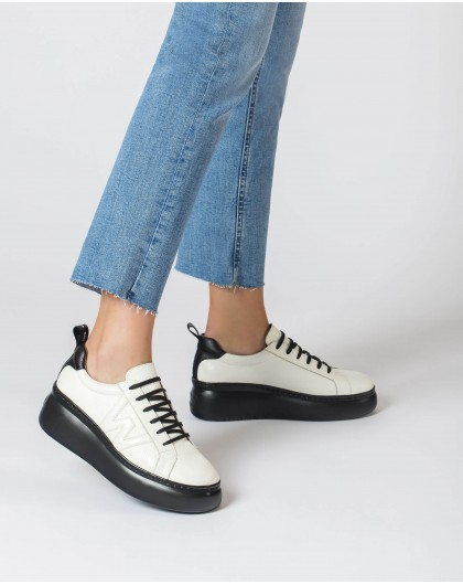 Wonders-Ready to wear-Dorita White and Black Trainers
