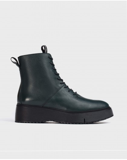 Wonders-Ankle Boots-Green Bristol Ankle boot