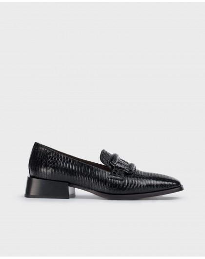 Wonders-Flat Shoes-Black Louis XV Moccasin