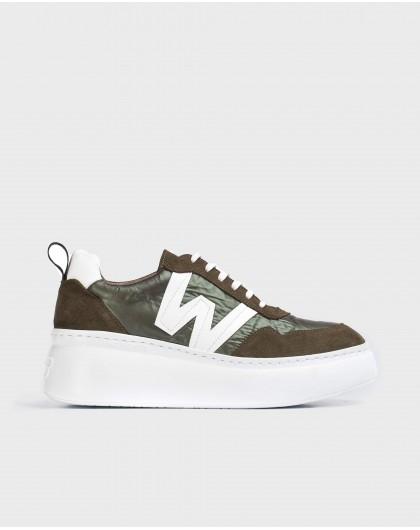 Wonders-Flat Shoes-Flipa Khaki Sneaker