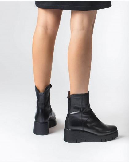 Wonders-Ankle Boots-Black Aitana Ankle Boot