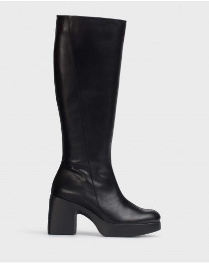 Wonders-Boots-Black boot Mayfair