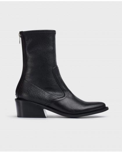 Wonders-Ankle Boots-Black Laguna napa ankle boots