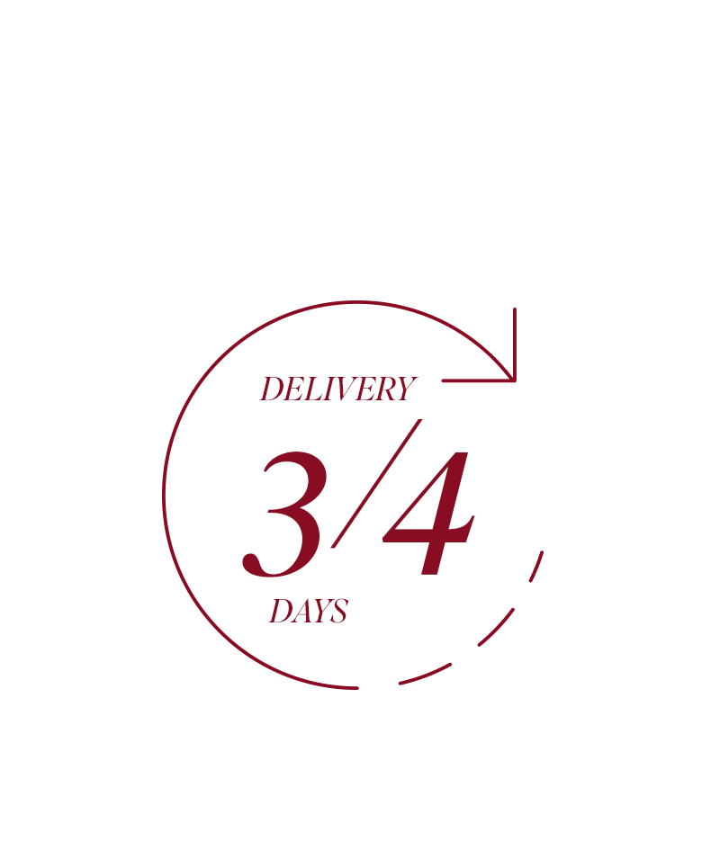 Delivery in 3/4 days